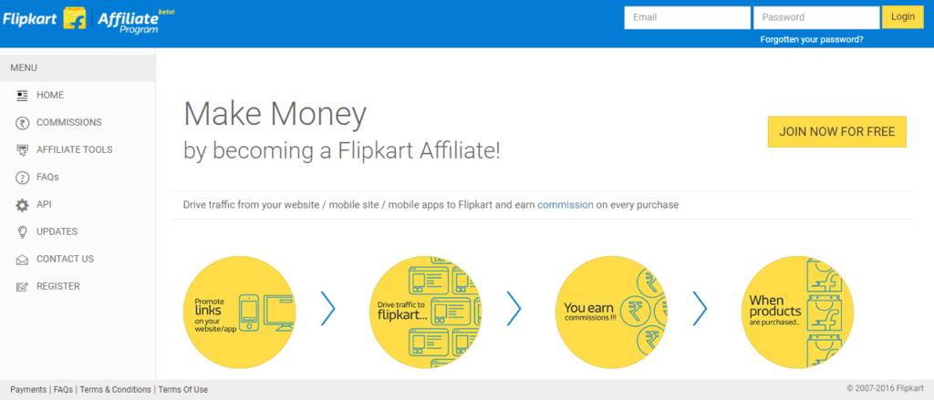flipkart affiliate Platform